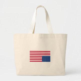 Upside Down Flag Large Tote Bag