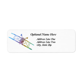 Upside Down Pitts in Rainbow Colors Return Address Label