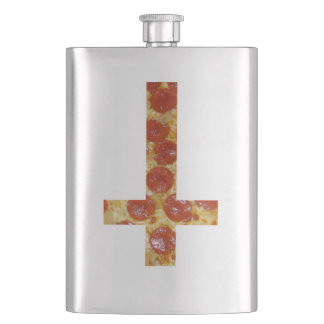 Upside Down Pizza Cross Durable Flask