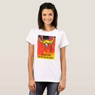 UPSIDE DOWN was Illegal growing up T-Shirt