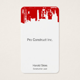 Upside Downtown - cc0000 Business Card