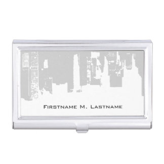 Upside Downtown - Gray Business Card Holder