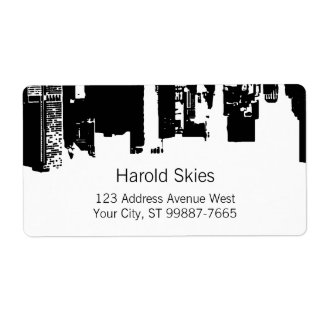 Upside Downtown Midnight Sky Shipping Label