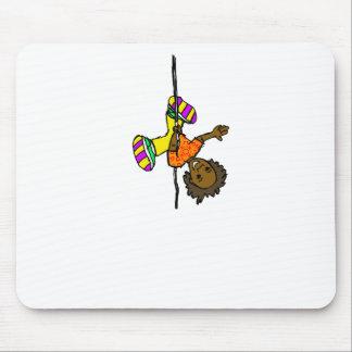 upsidedown girl 5 mouse pad