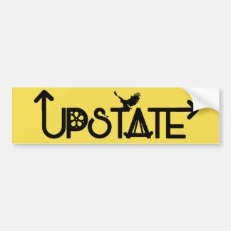 Upstate Bumper Sticker Black Lettering