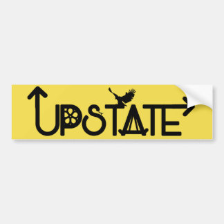 Upstate Bumper Sticker: Dark Lettering Bumper Sticker