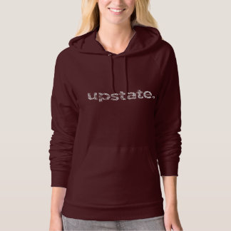upstate winter snow hoodie womans