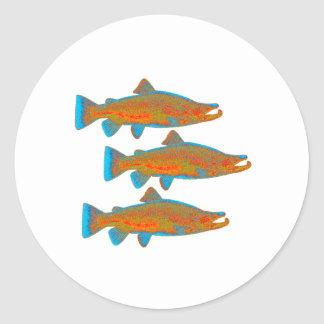 Upstream Alaska Classic Round Sticker