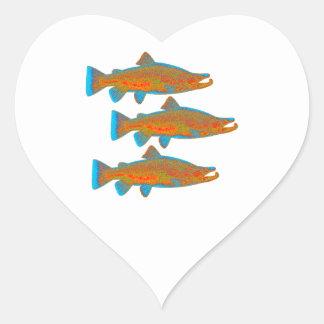 Upstream Alaska Heart Sticker