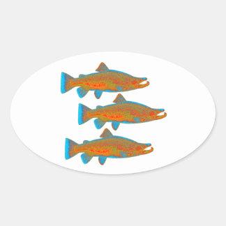 Upstream Alaska Oval Sticker