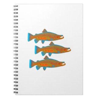 Upstream Alaska Spiral Notebook