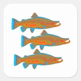 Upstream Alaska Square Sticker