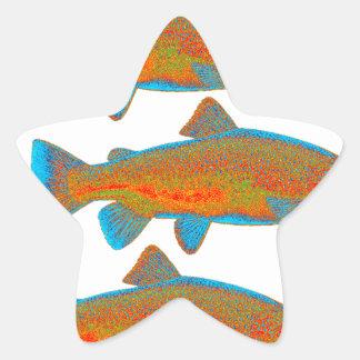 Upstream Alaska Star Sticker