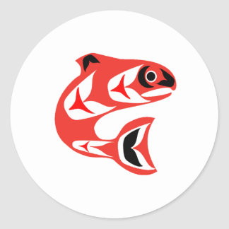 Upstream Swim Classic Round Sticker