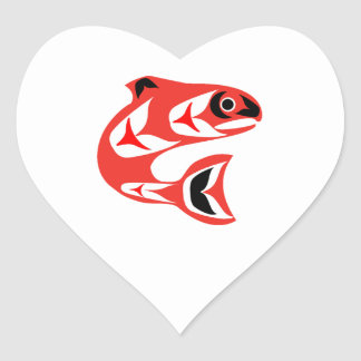 Upstream Swim Heart Sticker