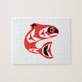 Upstream Swim Jigsaw Puzzle