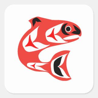 Upstream Swim Square Sticker