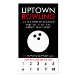 uptown bowling loyalty pack of standard business cards