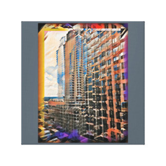 Uptown building canvas print