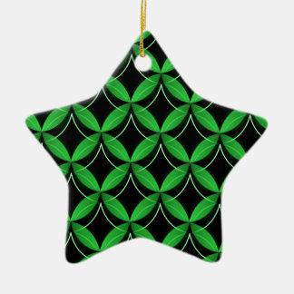 Uptown Glam Star Ornament, Green Ceramic Star Ornament