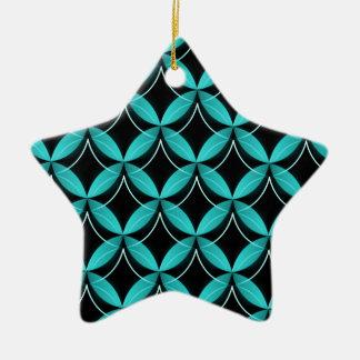 Uptown Glam Star Ornament, Turquoise Ceramic Star Ornament