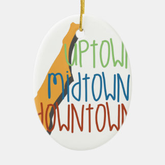 Uptown Midtown Ceramic Oval Ornament