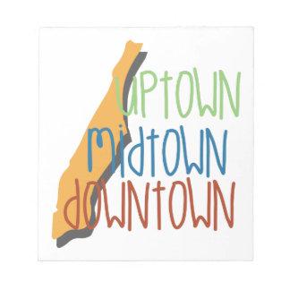 Uptown Midtown Notepad