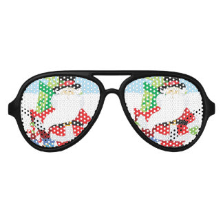 Uptown Santa Aviator Sunglasses