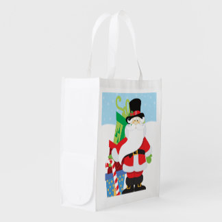 Uptown Santa Reusable Grocery Bag