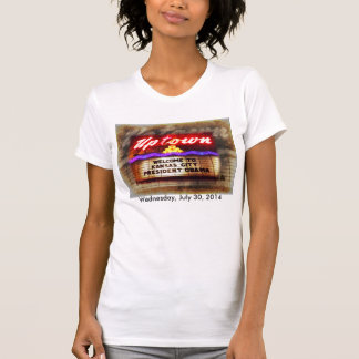 Uptown Theater Welcome President Obama Kansas City Tee Shirt