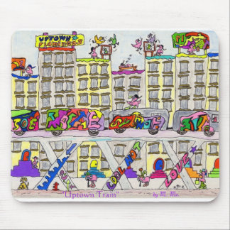"""""""Uptown Train"""" Mouse Pad"""