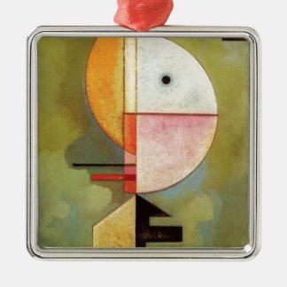 Upward Silver-Colored Square Ornament
