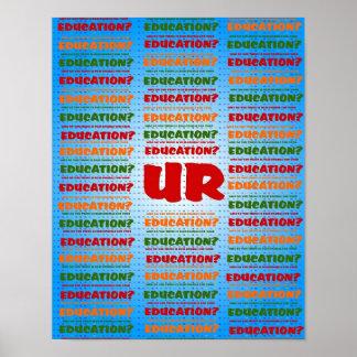 UR/DUCATION POSTER