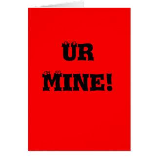 Ur Mine Greeting Cards