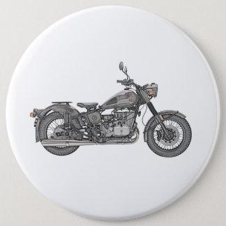 Ural Motorcycle 6 Inch Round Button