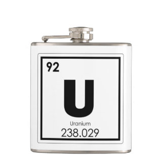 Uranium chemical element symbol chemistry formula hip flask