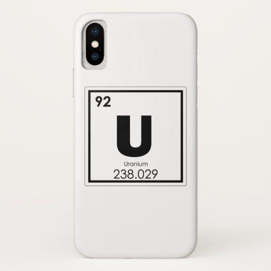 Uranium Chemical Element Symbol Chemistry Formula Iphone X Case