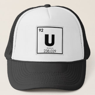 Uranium chemical element symbol chemistry formula trucker hat