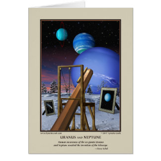 Uranus and Neptune Card