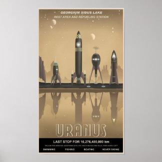 Uranus rest stop print