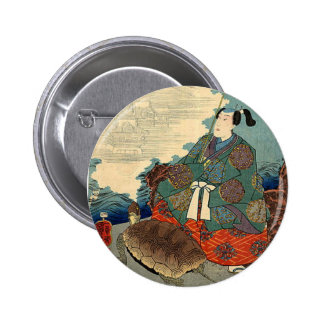 Urashima Taro and the Turtle Japanese Fairy Tale 2 Inch Round Button