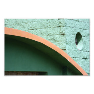 Urban architecture in green color photographic print