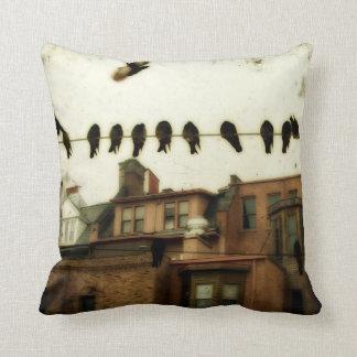 Urban Art Cityscape Throw Pillow