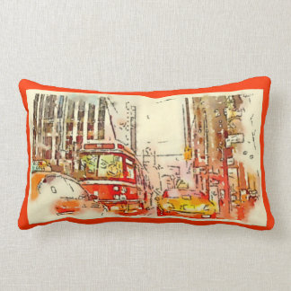 Urban Art, Throw Pillow, Toronto Lumbar Pillow