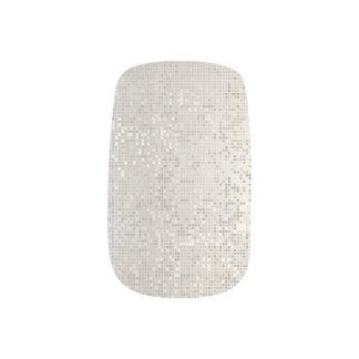 Urban Beauty Metallic Cyber Geo Silver Minimal Minx Nail Art