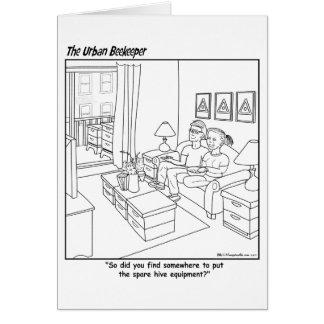 Urban Beekeeper Cartoon - Greeting Card