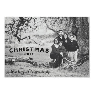 Urban Black and White Christmas Card