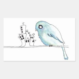 urban blue bird on a wire