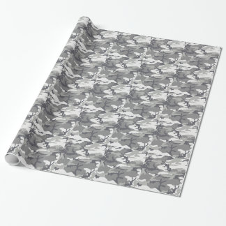 Urban Camo Masculine Wrapping Paper