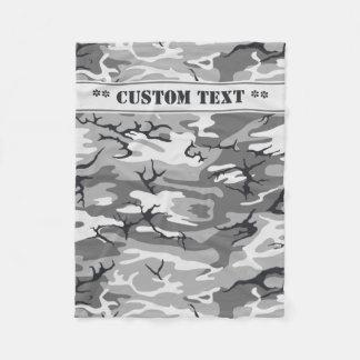 Urban Camo w/ Custom Text Fleece Blanket